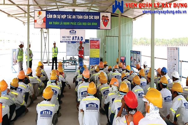 Kết thúc khóa học an toàn lao động trong xây dựng, học viên sẽ làm bài thi dưới hình thức trắc nghiệm
