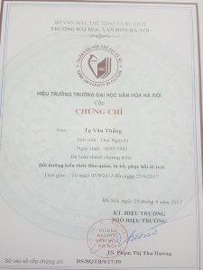 Lớp học cấp chứng chỉ tu bổ di tích tại Hà Nội