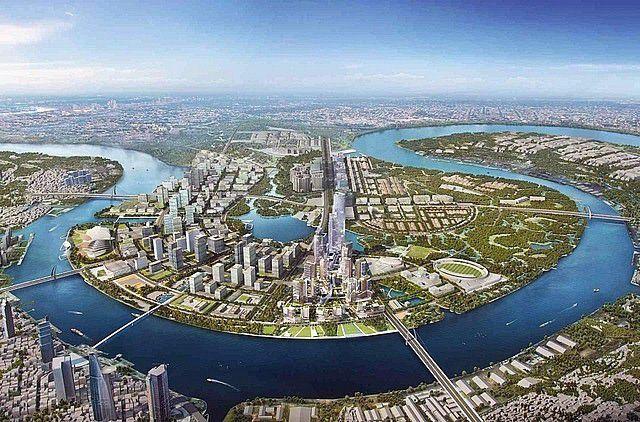 Các công trình xây dựng cao cấp tại khu đô thị