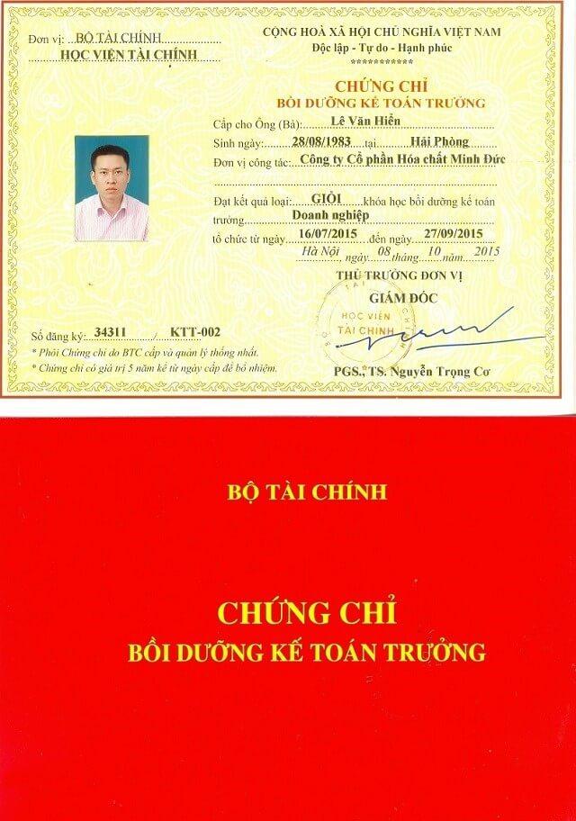 Chứng chỉ kế toán trưởng tại Hà Nội nên học ở đâu?