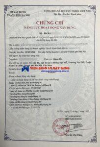 Dich Vu Cap Chung Chi Nang Luc Xay Dung Hang 3 Tai Ha Noi Vien Qlxd